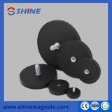 Het sterke Permanente Behandelde Rubber van de Magneet van de Holding van de Magneet van de Pot van het Neodymium