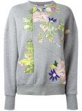 수를 놓는 꽃을%s 가진 도매 여자의 대원 목 스웨트 셔츠