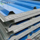 倉庫のための青いカラー金属板EPSサンドイッチパネル