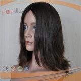 Grado superior de la PU de silicona Perímetro Mono superior de seda transpirable desgaste fácil para la alopecia peluca