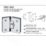 Frameless Accessoires de douche en acier inoxydable Verre Porte Orientation Verre Clamp