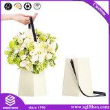 Blanco que empaqueta el rectángulo redondo extenso de encargo superior de la flor