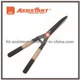 Прямые ножницы изгороди лезвия с ручками золы деревянными