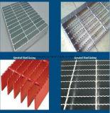 Reja resistente serrada barra galvanizada del suelo de acero de la plataforma del suelo
