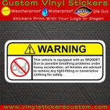 Наклейки на бампере автомобиля винила PVC предупреждающий напольного изготовленный на заказ печатание UV упорные