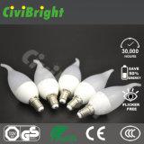 온난한 백색 높은 CRI 새로운 디자인 5W LED 초 전구