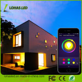 E27 9W RGB 백색 APP WiFi 지능적인 LED 전구를 바꾸는 LED 점화 Smartphone 통제되는 Dimmable 다색 색깔