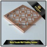 Panneau de revêtement en aluminium de mur de coupure décorative de laser avec la ventilation