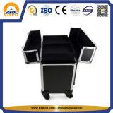Cassa cosmetica della nuova cassa di alluminio professionale del carrello per le arti del chiodo (HB-6338)