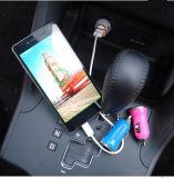 Одиночный или двойной заряжатель автомобиля мобильного телефона формы пули USB с СИД