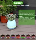 POT di fiore senza fili di musica di tocco della pianta del piano di notte dell'indicatore luminoso dell'altoparlante astuto di Bluetooth con la lampada del LED