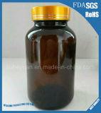 De amber Fles van het Glas van de Mond van Pillen Farmaceutische Medische Brede 60ml---500ml