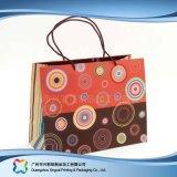 Напечатанный мешок несущей бумаги упаковывая для одежд подарка покупкы (XC-bgg-033)