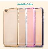Caso electrochapa la plata del cristal TPU para el iPhone de Apple 6s caso de TPU transparente de lujo para el iPhone 5 se 6s Accesorio 7 Teléfono