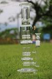 Dubbel 4 Klauwen Perc 3 de Waterpijp van het Glas van het Ijs van Showerhead van de Ring