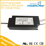 42W Approbation UL 1200mA 0-10V Dimmable LED Driver avec 20-50V Ouput