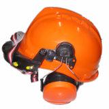 Casco della costruzione di protezione della testa di sicurezza con il paraorecchie (JMC-252R)