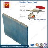 China fabricante de acero inoxidable acero con revestimiento de chapa de soldadura explosiva para los recipientes a presión