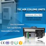Arrefecimento de ar termoelétrico com sistema de aquecimento