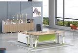 Hts01-1の白いカスタマイズされた金属の鋼鉄電気高さの調節可能なオフィスの上昇の机フレーム