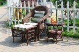 Il tavolino da salotto dell'ottomano del sofà del rattan delle 3 parti ha impostato con l'ammortizzatore