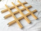 China Wholesale, revestimiento de polvo de grano de madera Panel del techo de la parrilla de aluminio