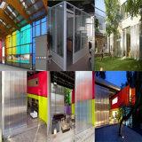Construcción del policarbonato que construye la hoja moderna del panal de la casa