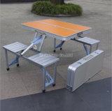 85*66*67cmの高品質のアルミ合金の折りたたみ式テーブルおよび椅子