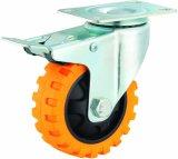 Der 5 Zoll-Reifen Veins PU-Fußrollen-Rad industrielle Hochleistungs-PU-Fußrolle