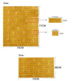 El panel de pared auto-adhesivo de la espuma del PE del espesor de la etiqueta engomada los 0.8cm de la pared de la instalación fácil