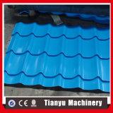 Металлические цветные стали полированной плиткой роликогибочная машина на крыше