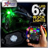 지프를 위한 배 빛의 밑에 도로 LED 바위 빛 떨어져 또는 파랑 또는 백색 녹색 또는 호박색 단 하나 색깔 9W 크리 사람 칩 LED 훈장 차 빛 빨간 가장 싼 가격 8PC 깍지