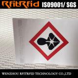 Het UHF Etiket van de Sticker RFID van de Lange Waaier Anti-Acid Schokveilige Geschikt om gedrukt te worden voor het Beheer van het Pakhuis