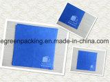 Blaues Microfiber optisches Putztuch-Weiß-Firmenzeichen