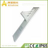 PIR 센서를 가진 1개의 통합 LED 태양 가로등에서 120W 리튬 건전지 전부