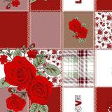 100%Pigmento Rosa Floral de poliéster&Dispersar tecido impresso para o conjunto de roupa de cama
