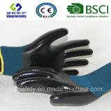 Coque en polyester 13G avec gants de travail en nitrile (SL-N118)