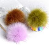 Оптовые большие шарики шерсти POM Faux для шарма мешка Keychain