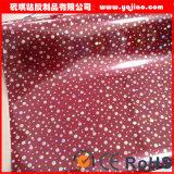 부엌 찬장 문 MDF 막 진공 압박 태양열 집열기 높은 광택 있는 PVC 필름