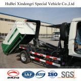 vuilnisauto van het Type van Wapen van de Haak van de Benzine van Benzine 4 van 5cbm Foton Forland de Euro Opheffende