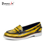 2017 Sapatos Escovados De Couro Flat Women Casual Loafers Shoes (CIF)