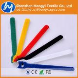 Atadura de cables mágica de nylon colorida ajustable del gancho de leva y de la cinta del bucle