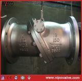 Tipo do balanço da flange do aço de molde que inclina a válvula de verificação