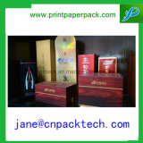 Rectángulo de empaquetado impreso aduana de papel del vino del favor de los rectángulos de regalo de la manera