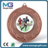 Medaglia di rame personalizzata vendite calde con il contenitore di regalo del velluto