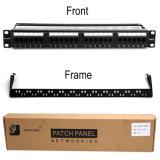 Wonterm 24-Port CAT6 Rj-45 Painel de Patch não blindado UTP 19 polegadas Categoria 5e Network Wall Mount Surface Patch Panels