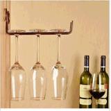Стена металла установила полку держателя чашки стойки стороны шкафа стекла вина стеклянную
