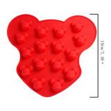 La FDA délivrent un certificat le moulage matériel de gâteau de silicones de catégorie comestible, moulage de gâteau des silicones 16PCS formé par Mickey Mouse/moulage de glace forme de Mickey Mouse/moulage de chocolat