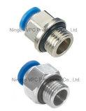 Rectos convenables pneumatiques de Conectores d'ajustage de précision de tube de connecteur de tuyau flexible