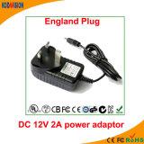 Adattatore dell'alimentazione elettrica di commutazione dell'adattatore 12V 2A di AC/DC